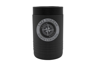 Custom Location with Latitude & Longitude in Circle Insulated Beverage Holder