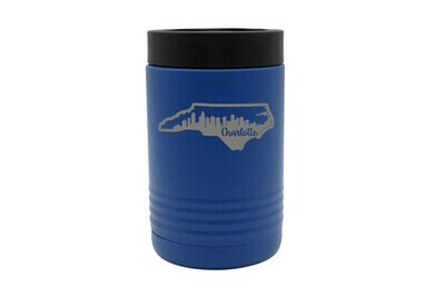 Custom State Shape with City Skyline Insulated Beverage Holder