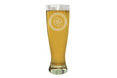 Custom Location with Latitude & Longitude in Circle Pilsner Beer Glass 16 oz