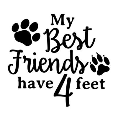 My Best Friends have 4 Feet Pilsner Beer Glass 16 oz