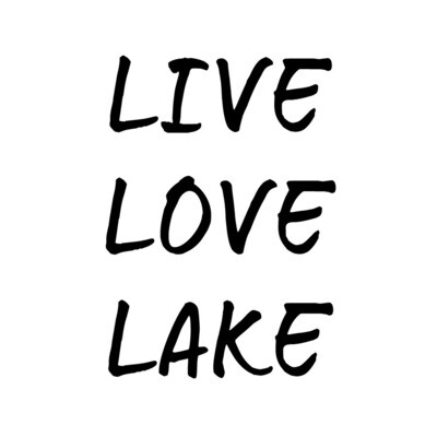 Live Love Lake or Your Custom Words PLASTIC Stemless Wine Glass