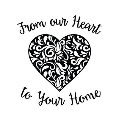 From Our Heart to Your Home PLASTIC Stemless Wine Glass