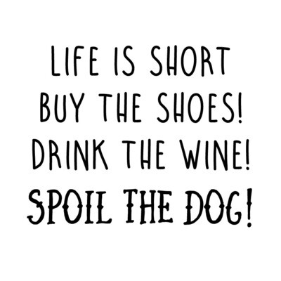 Life is Short Saying PLASTIC Stemless Wine Glass 16 oz