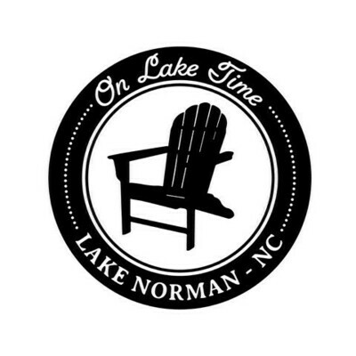 On Lake Time w/Chair & Customized Location PLASTIC Cup 12 oz