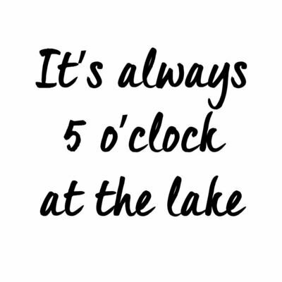 It's always 5 o'clock at the Lake or Beach Leatherette Coaster Set