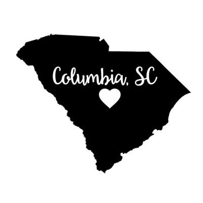 Custom State Shape - Heart Represents City Location Leatherette Coaster Set