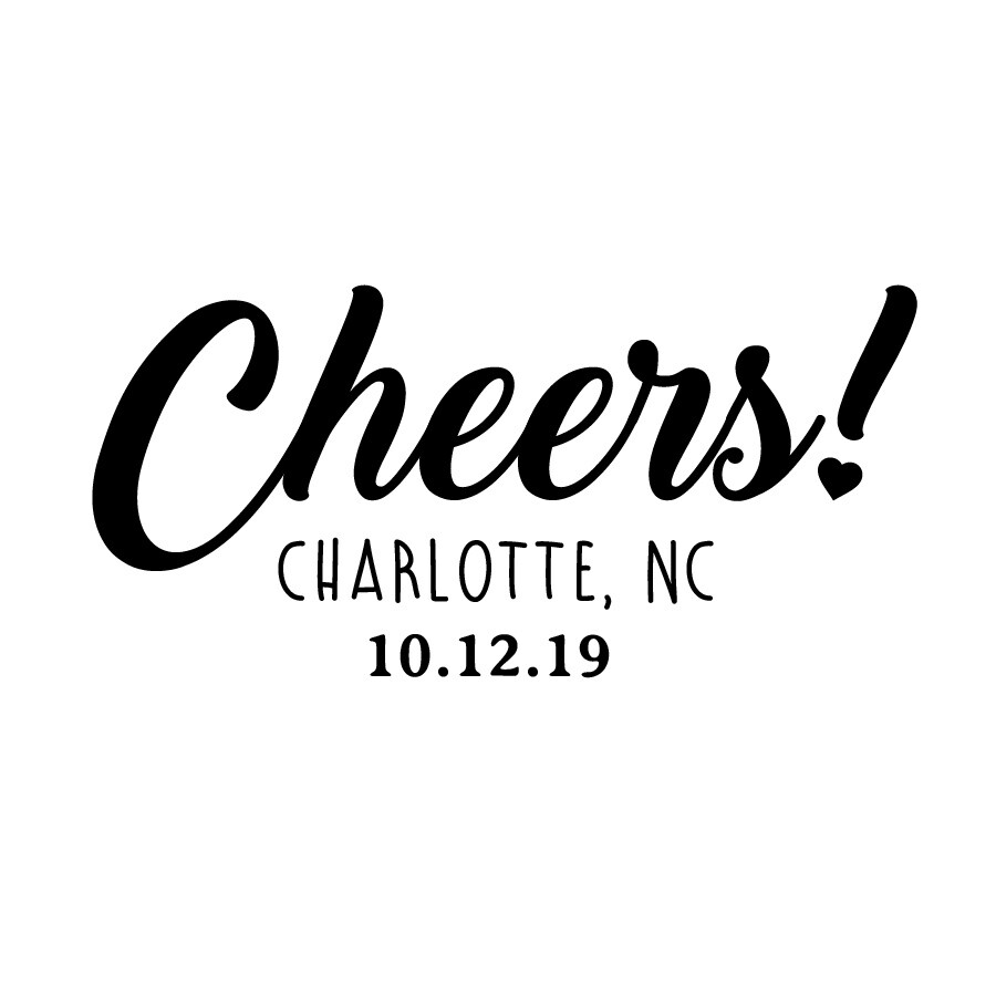 Custom Cheers w/City & State & Date Leatherette Coaster Set