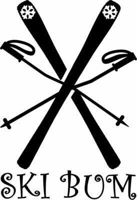Ski Bum Slate Serving Tray