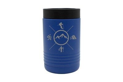 Skier with Outdoor Themes Insulated Beverage Holder