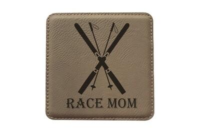 Race Mom Leatherette Coaster Set