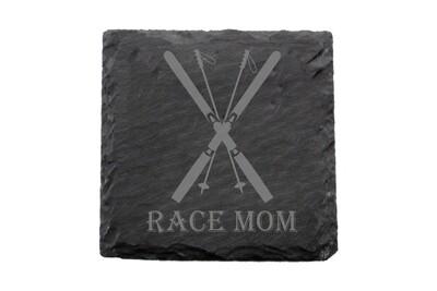 Race Mom Slate Coaster Set