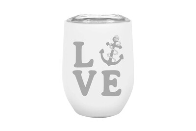 LOVE with Anchor Insulated Tumbler 12 oz