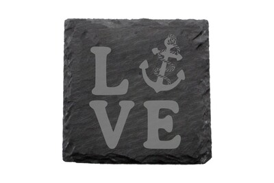 Love with Anchor Slate Coaster Set
