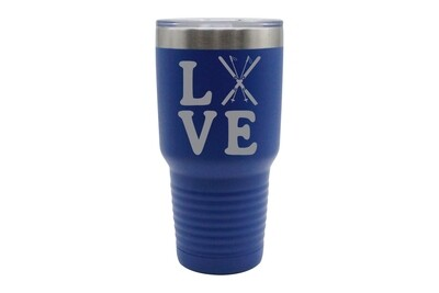 Love with Skis Insulated Tumbler 30 oz