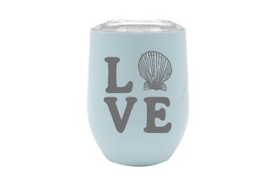 LOVE with Seashell Insulated Tumbler