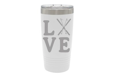 Love with Skis Insulated Tumbler 20 oz