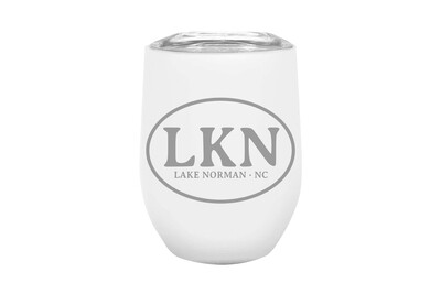 Custom Insulated Tumbler with Initials or Airport Code 12 oz