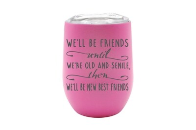 We'll Be Friends until We're Old and Senile, then We'll be New Best Friends Insulated Tumbler