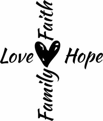 Love Hope Family Faith HEX Hand-Painted Wood Coaster Set