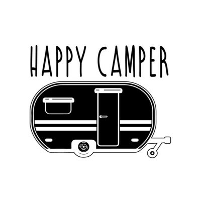 Leatherette 20 oz Happy Camper RV Insulated Tumbler