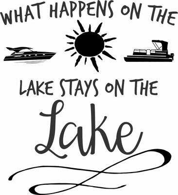 What happens on the Lake stays on the Lake Pilsner Tumbler 20 oz