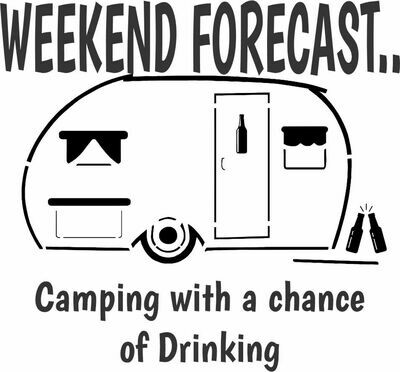 Leatherette 20 oz Weekend Forecast - Camping with a chance of Drinking Insulated Tumbler