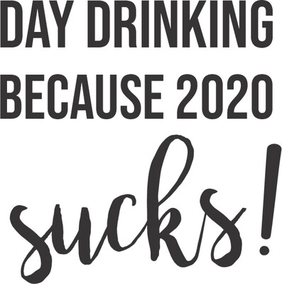 Leatherette 20 oz Day Drinking Because 2020 Sucks Insulated Tumbler