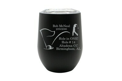 Hole In One with Personalized Information Insulated Tumbler