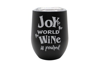 Joy to the World the Wine is Poured Insulated Tumbler