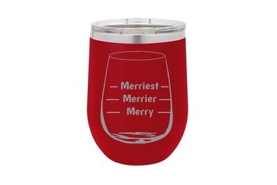 Merriest Merrier Merry Insulated Tumbler
