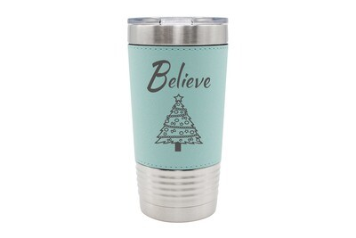 Leatherette 20 oz Believe Insulated Tumbler