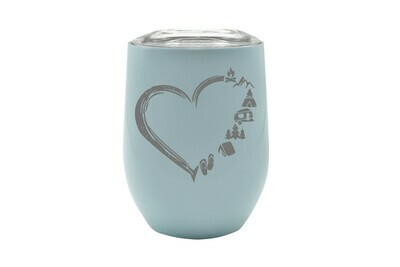 Heart w/Outdoor Icons (without or with Name or Location) Insulated Tumbler