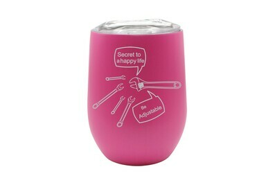Secret to a Happy Life - Be Adjustable Insulated Tumbler