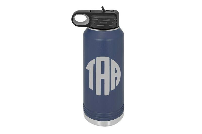 Monogrammed Insulated Water Bottle 32 oz