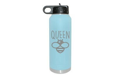 Queen Bee (With or Without Name) Insulated Water Bottle 32 oz