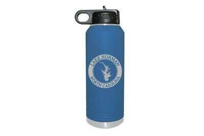 Body of Water w/Circle & Customized Location Insulated Water Bottle 32 oz