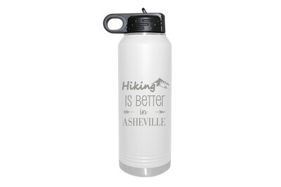 Hiking Customized with City/Location Insulated Water Bottle 32 oz