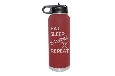 Eat Sleep (Choose from 19 Sports) Repeat Insulated Water Bottle 32 oz