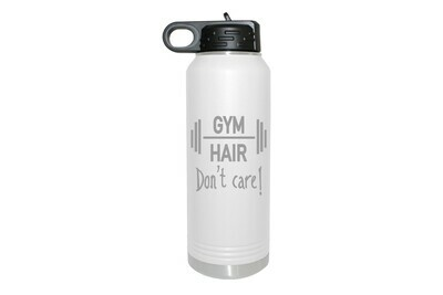 Gym Hair Don't Care Insulated Water Bottle 32 oz