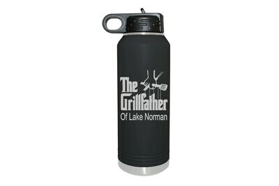 The Grillfather with or without Location Insulated Water Bottle 32 oz