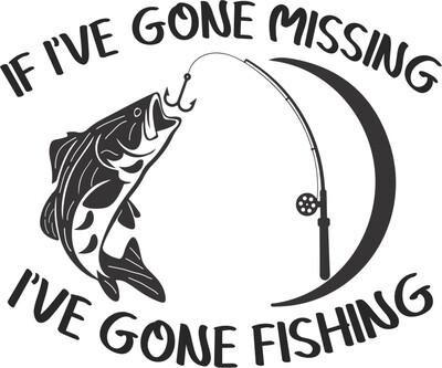 If I've Gone Missing I've Gone Fishing Hand-Painted Wood Coaster Set
