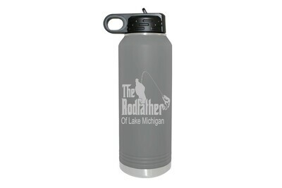 The RodFather with or without Location Insulated Water Bottle 32 oz