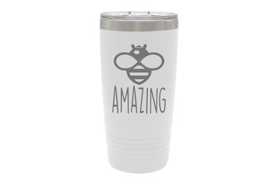 Bee Phrases (Amazing, Buzzed, Happy, Kind, or Your Word) Insulated Tumbler 20 oz