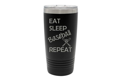 Eat Sleep (Choose from 19 Sports) Repeat Insulated Tumbler 20 oz