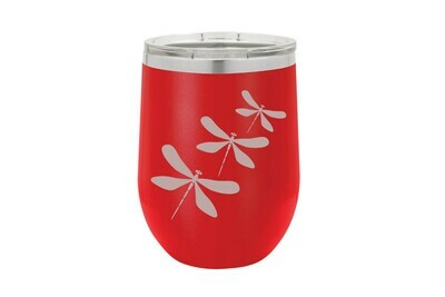 Dragonfly (With or Without Name & Location) Insulated Tumbler 12 oz