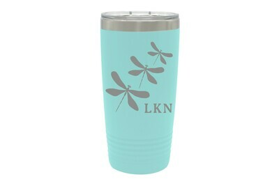 Dragonfly (With or Without Name & Location) Insulated Tumbler Insulated Tumbler 20 oz