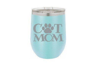 Cat Mom (without or with name) Insulated Tumbler 12 oz