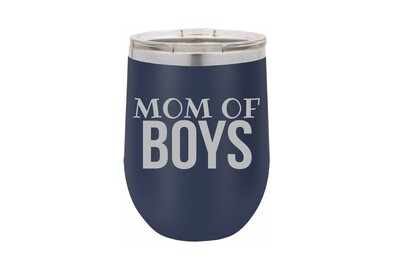 Mom of Boys (without or with name) Insulated Tumbler 12 oz