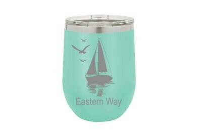 Sailboat with Customized Location or Name Insulated Tumbler