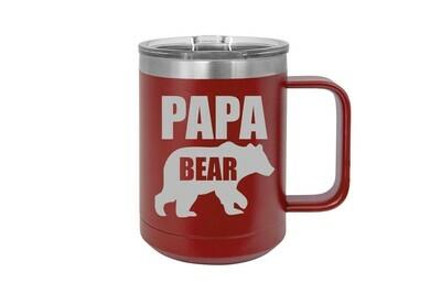 Papa Bear 15 oz Insulated Mug